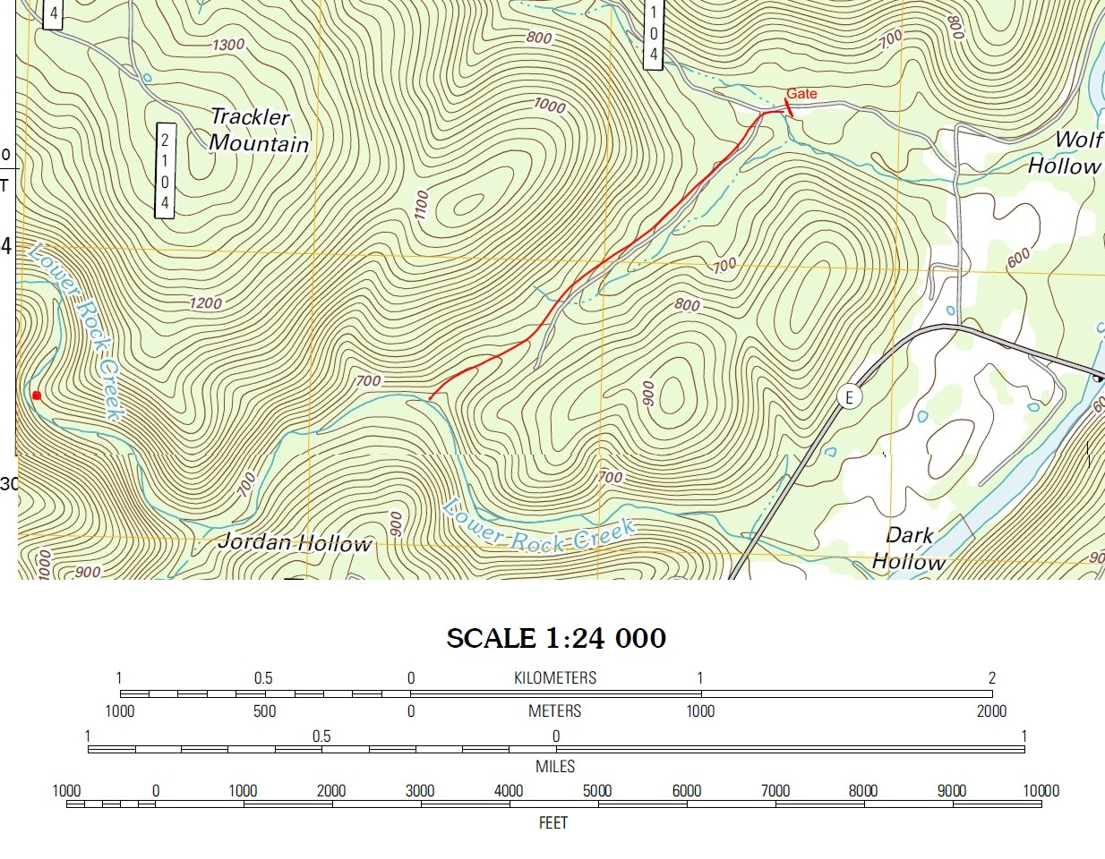 Cathedral Canyon - Where to get topo maps for hiking